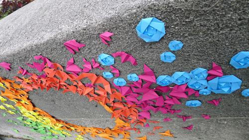 Urban installations by French artist Mademoiselle Maurice