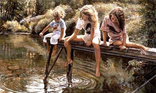 Emotional realism in paintings by American artist Steve Hanks