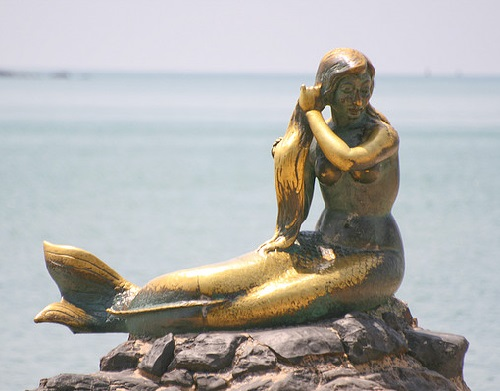 Statues of mermaids all over the world