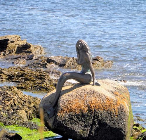 Mermaid statue in Baltimore, Scotland