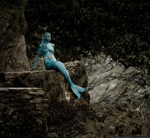 mermaid statue sculpture dart estuary England