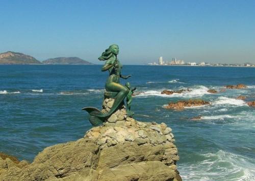 Mermaid statue in Mazatlan Mexico