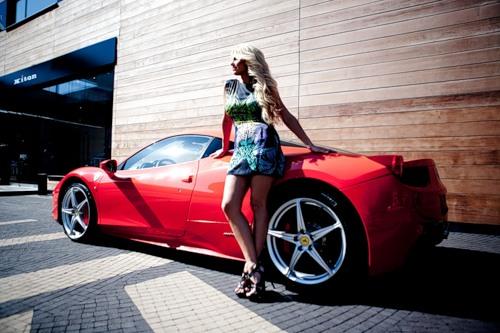 Beautiful Natalie Freidina Russian racing driver