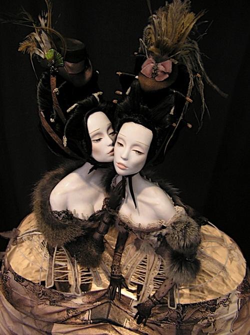 Fascinating dolls by Lena and Katya Popova