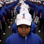 Rehearsal of the parade in honor of Malaysia's Independence Square in Kuala Lumpur, Malaysia