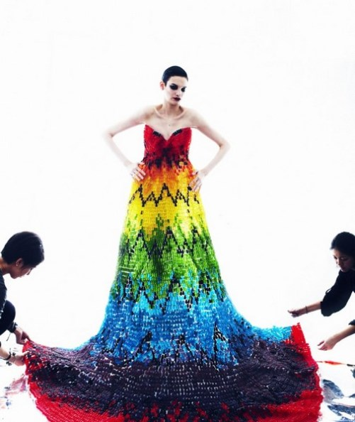 Alexander McQueen Jelly bears dress