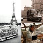 French retro bus