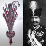 Aigrette - men's jewelry, put on a turban or other headgear in the center, in the middle of the forehead