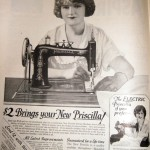 Vintage ads Priscilla sewing machine