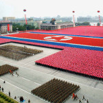 The most spectacular parade – in North Korea, the military forces of North Korea march during celebrations in Pyongyang, North Korea's foundation