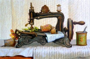 Marina Bogdanova. Still life, sewing machine