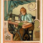 Vintage poster of sewing machine
