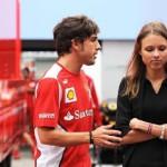 fashion model Daria Kapustina and Formula 1 Champion Fernando Alonso