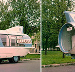 There was another rocket-like incarnation of the original Citroen U55 chassis: TeleAvia promotional bus