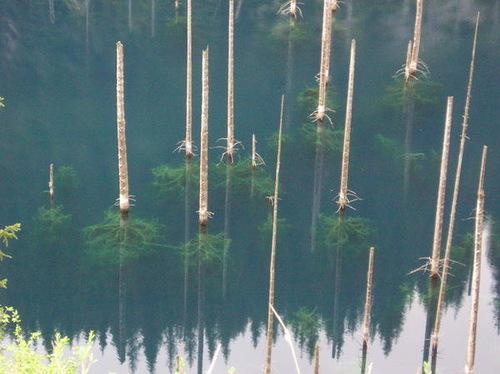 Lake Kaindy mysterious and beautiful lake in Kazakhstan