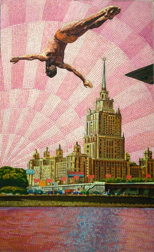 Anatoliy Gankevich's unique mosaic painting