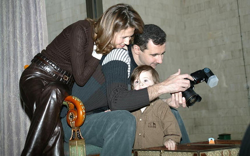 Bashar Hafez Al-Assad and his family