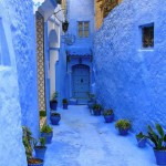 Neat and cosy streets of Chefchaouen in Morocco