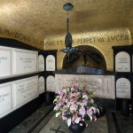 Inside the crypt. Chimitero Monumental in Milan