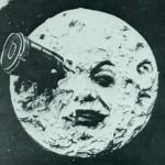 Moon from the retro movie