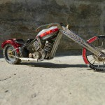 Creative Miniature motorcycle from vintage watch parts, made by Dan Tanenbaum, Canada