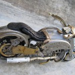 Work by Canadian craftsman Dan Tanenbaum – Miniature motorcycle made from watch parts