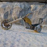 Inspired by many different steampunk artists, Dan Tanenbaum creates miniature motorcycles from vintage watch parts