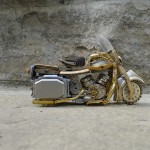 Exquisite work by Canadian artist Dan Tanenbaum – Miniature motorcycle from vintage watch parts