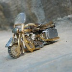 Unique Miniature motorcycle from vintage watch parts, made by Dan Tanenbaum, Canada