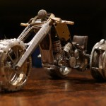 Wonderful work of master – Miniature motorcycle from vintage watch parts, made by Dan Tanenbaum, Canada