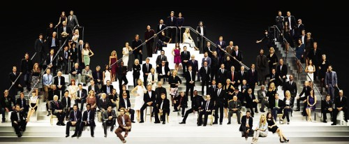 116 Hollywood stars (the image can be enlarged)