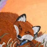"The book titled ""Fox walked alone"". Plasticine illustrations by Canadian artist Barbara Reid"