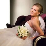 Kseniya Ryzhova (Vdovina) in her wedding day