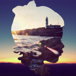 Silhouette landscapes Young Boys by graphic artist from Guatemala Aritz Bermudez