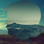 Silhouette landscapes titled Young Boys, by graphic artist from Guatemala Aritz Bermudez