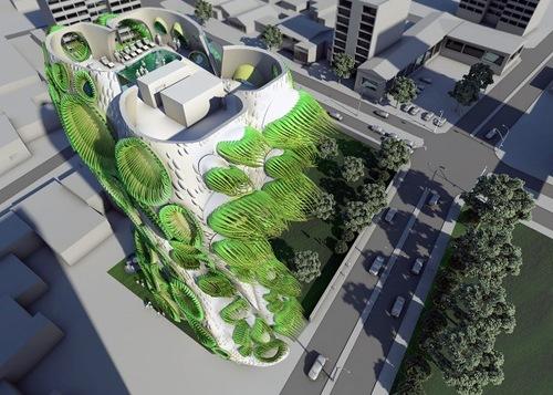 Sky Condos, Organic Architecture from American Architectural Studio B + U Architects