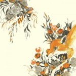 A red fox. Beautiful Illustration by American artist Teagan White