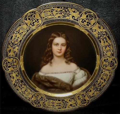 Portraits on porcelain plates