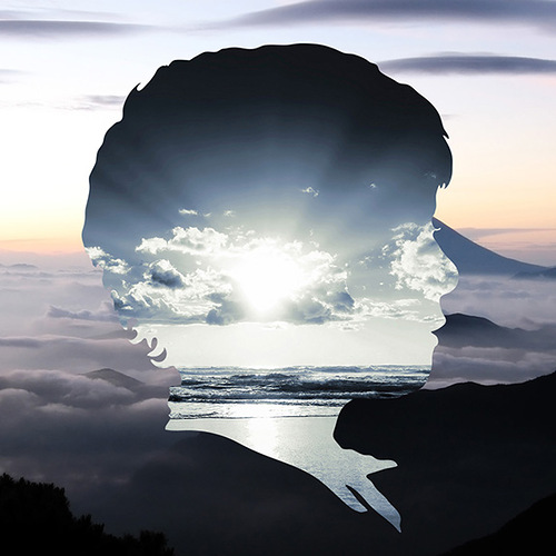 silhouette landscapes by Aritz Bermudez, graphic designer and artist from Guatemala
