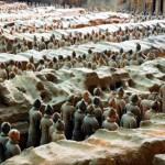 Ancient sculpture of terracotta warriors