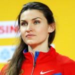 Russian leading high jumper Anna Chicherova