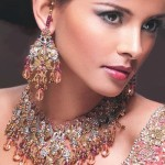 Traditional decoration of an Indian woman includes Earcuff earrings