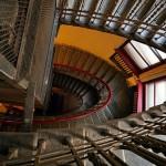 Stairways in the old houses of St. Petersburg, Russia