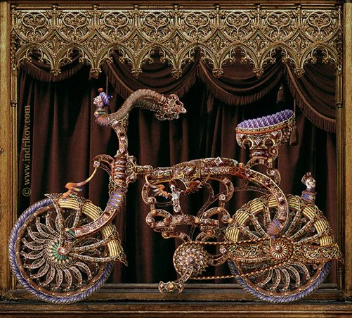 Medieval Knight's steel bike