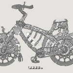 Reconstruction of Medieval Knight's steel bike