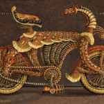 Stunning Medieval Knight's steel bike