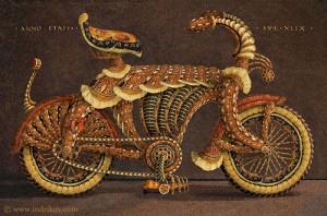Stunning Medieval Knight's steel bike