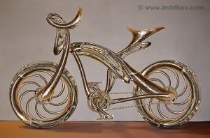 Beautiful Medieval Knight's steel bike