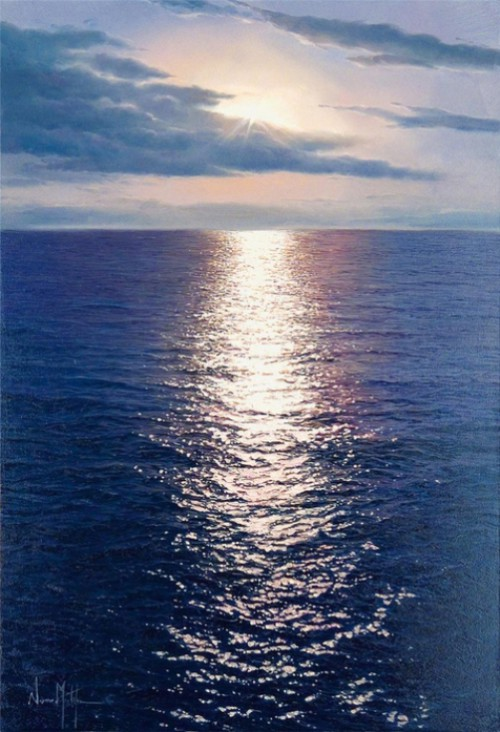 Hyperrealistic seascapes by Alfredo Navarro Montllor