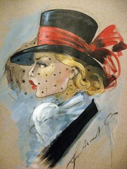 Female Elegance in drawings by Fatima Tomaeva Gabellini
